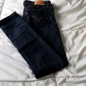 Levi's dark blue jeans